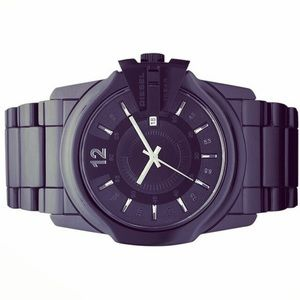DIESEL MEN'S ANALOG BLACK CERAMIC WATCH DZ1516